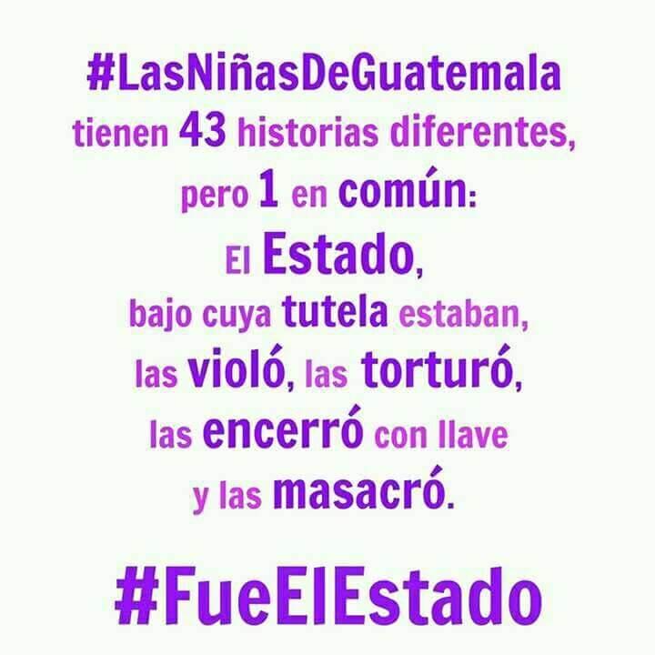 Niñas y adolescentes en Guatemala murieron por negligencia del Estado