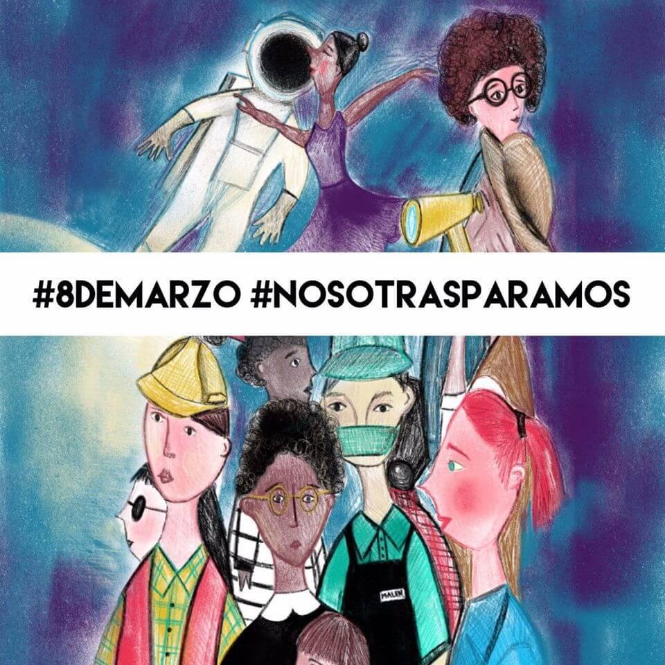 8 de marzo. #YoParo #NosotrasParamos
