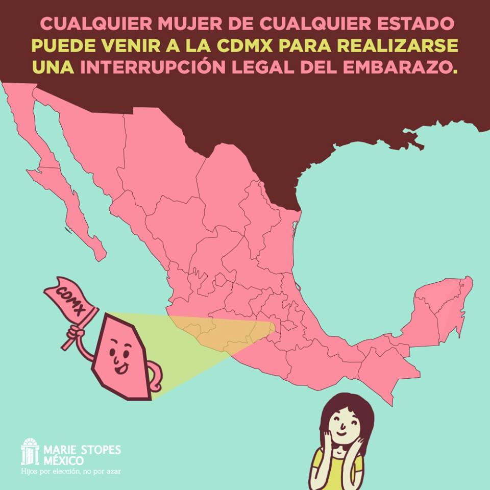 Puedes viajar a la CDMX o a Oaxaca para acceder a una interrupción del embarazo,